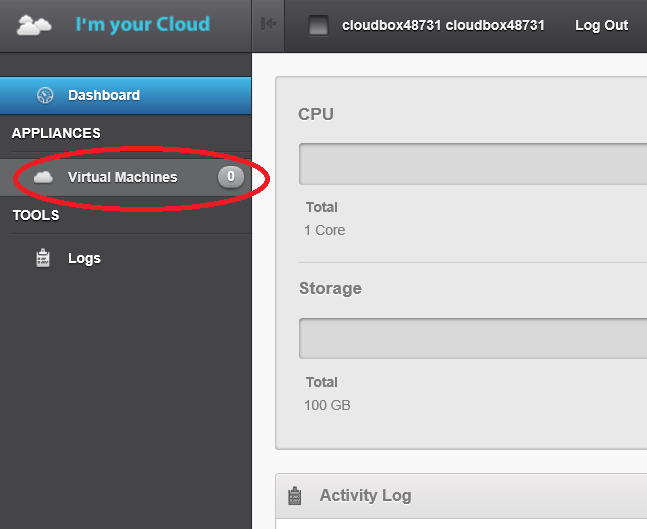Creating cloudbox and installing DirectAdmin - Versio